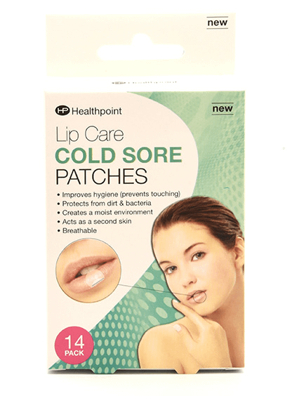 Cold Sore Patches 14pk Description Lip Care Cold Sore Patches have been specially formulated to help protect and heal your cold sore. Make-up or lipstick can be applied on top to instantly hide. Note that cream or lipstick should not be applied under the patch as this can reduce its adhesive ability Available in Pack Size:14 Patches