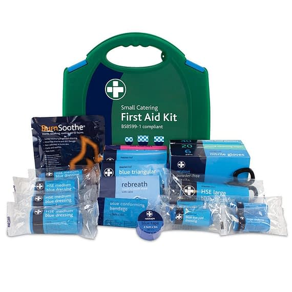 Small BS8599-1 HSE Compliant Catering Cafe Pub Kitchen Workplace First Aid Kit