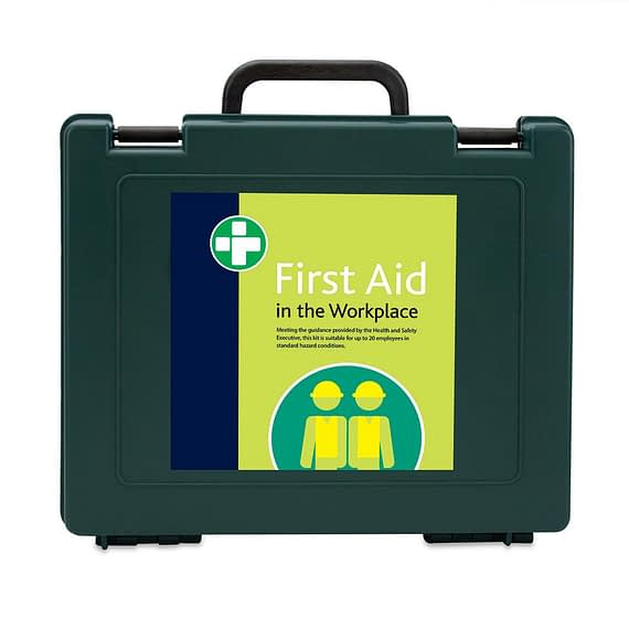 HSE Approved First Aid Kit for 20 people in a workplace with standard hazard conditions.