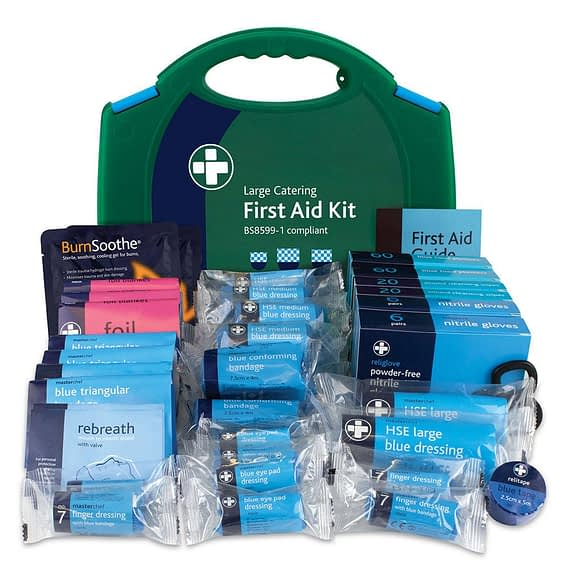 Large BS8599-1 HSE Compliant Catering Cafe Pub Kitchen Workplace First Aid Kit