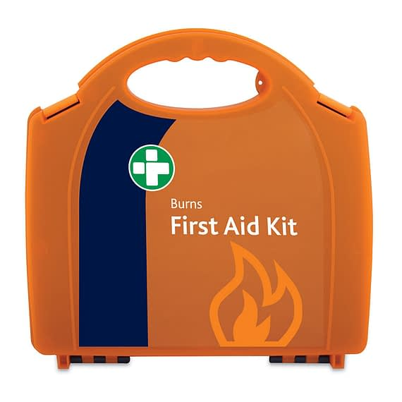Burn First Aid Kit for in Orange/Orange Integral Aura Box Spectra Burns System. Specifically stocked for treating burns. Provides fast and effective treatment. Meets current HSE guidelines. Includes integral bracket. Contains CoolTherm Dressings and Gel.