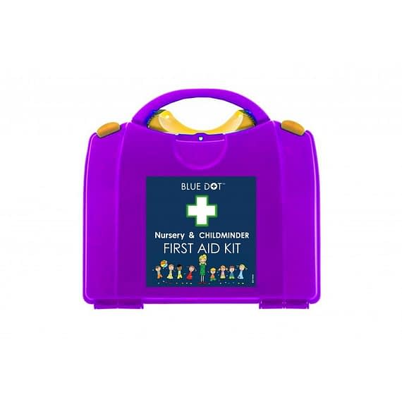 Child Minder and Nursery First Aid Kit is an essential kit for all childminders, nannies, nurseries, and playgroups. Contents include a selection of dressings and plasters, including finger dressings for protecting injured fingers to ensure that minor first aid emergencies can be dealt with quickly and effectively. Supplied in a durable plastic case.